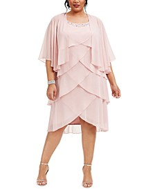Plus Size Tiered Dress & Jacket
