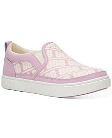 Little & Big Girls Caplan Slip-On Logo Sneakers