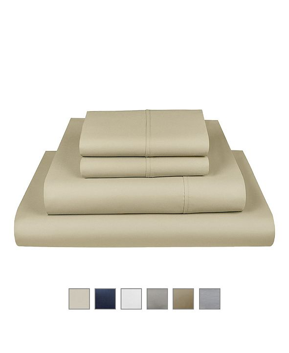 Fisher West New York Liberty 750 Thread Count Cotton Rich Wrinkle Resistant Queen Sheet 6-Piece Set, Fits Mattress Upto 17""