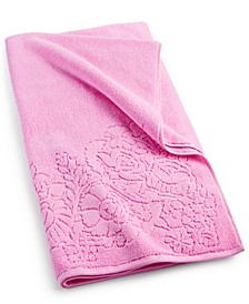 "Sculpted Floral Cotton 30"" x 54"" Bath Towel"