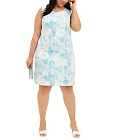 Plus Size Printed Sheath Dress