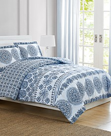 Blue Medallion Twin 3-Pc. Comforter Set