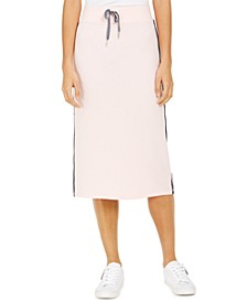 Side-Stripe Midi Skirt