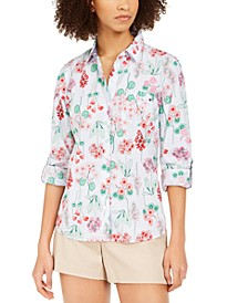 Cotton Floral-Print Shirt