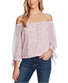 Off-The-Shoulder Floral-Print Top