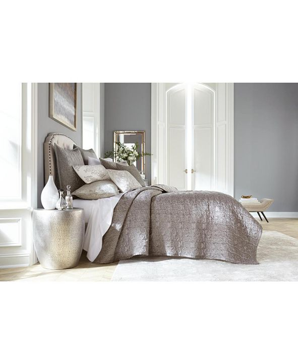 Hotel Collection CLOSEOUT! Classic Embossed Jacquard Queen Coverlet