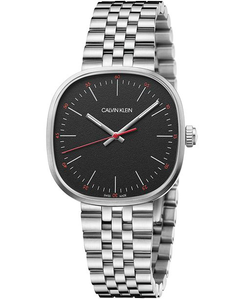 Calvin Klein Men's Squarely Stainless Steel Bracelet Watch 38mm
