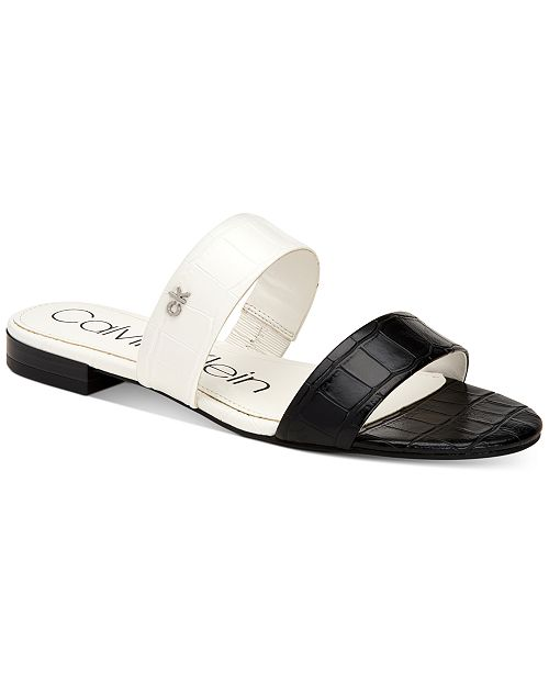 Calvin Klein Women's Elliana Double-Band Flat Sandals