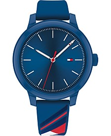 Women's Blue Silicone Strap Watch 38mm, Created for Macy's