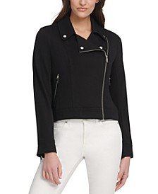 Soft Textured Moto Jacket