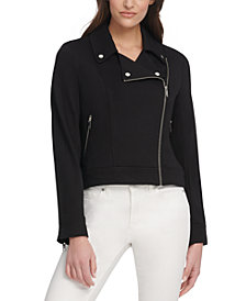 DKNY Zip-Up Moto Jacket