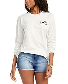 Juniors' Beach Waves Cotton Graphic T-Shirt