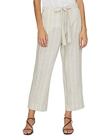 The Shayne Linen Tie-Front Pants