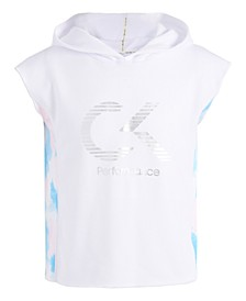 Big Girls Hooded Tie-Dye Panel T-Shirt