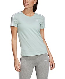 Women's Cotton Slim 3-Stripe T-Shirt