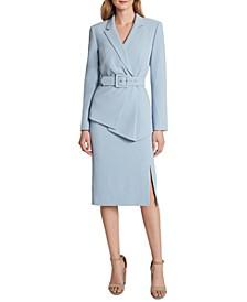 Belted Jacket Skirt Suit