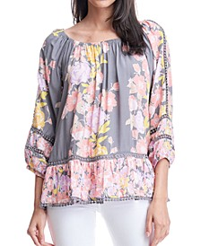 Floral-Print Off-The-Shoulder Top