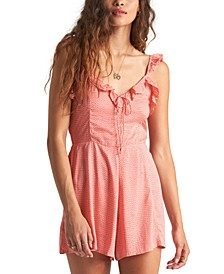 Juniors' Flirty Free Ruffled Romper