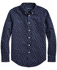 Big Boys Nautical Seersucker Shirt