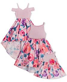 Baby, Toddler, Little & Big Girls Glitter Floral Dress