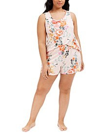 Plus Size Tish Cami and Short Pajamas Set