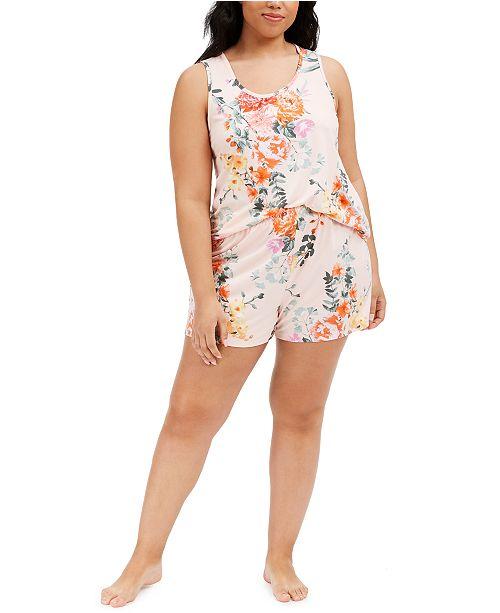 Flora by Flora Nikrooz Plus Size Tish Cami and Short Pajamas Set