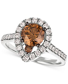 Diamond Halo 20th Jubilee Ring (1-5/8 ct. t.w.) in 14k Rose and White Gold