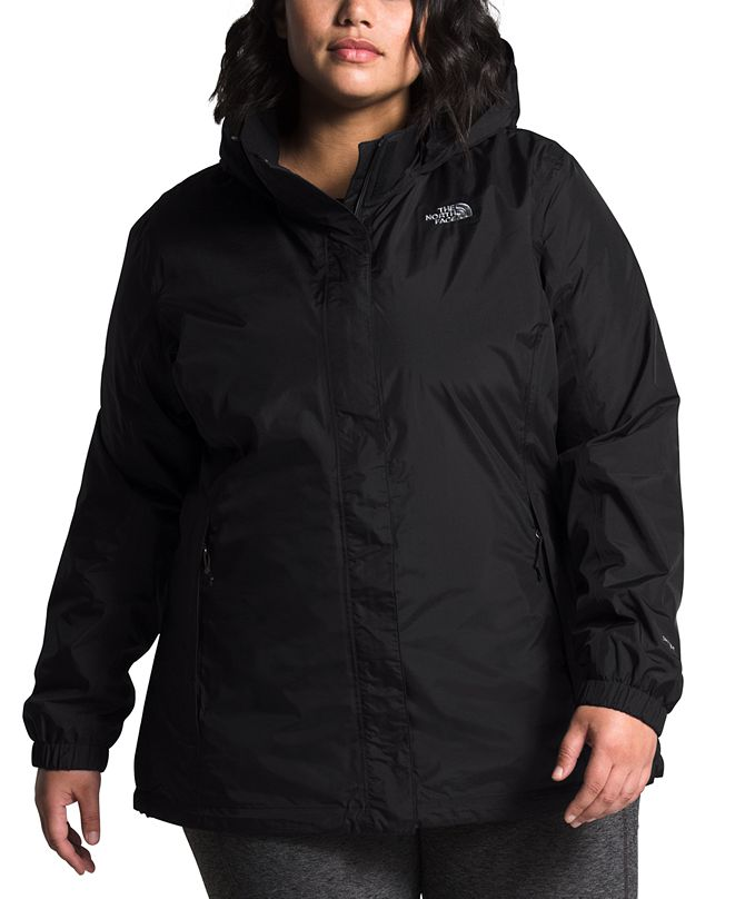 The North Face Plus Size Hooded Water-Repellant Jacket