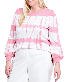 Plus Size Tie-Dye Sweater