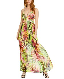 Emma Printed Cutout Maxi Dress