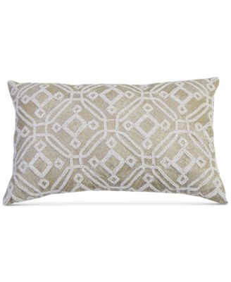 "Clovis Beaded 12"" x 20"" Decorative Pillow"