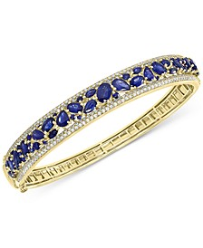 EFFY® Sapphire (7-1/6 ct. t.w.) & Diamond (1-1/6 ct. t.w.) Bangle Bracelet in 14k Gold