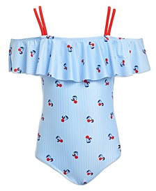 Girl Cherry Ithaca Print One-Piece Swimsuit