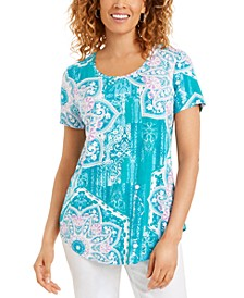Medallion-Print Top, Created for Macy's