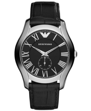 Emporio Armani Watch, Men's Black Croco Leather Strap 43mm AR1703