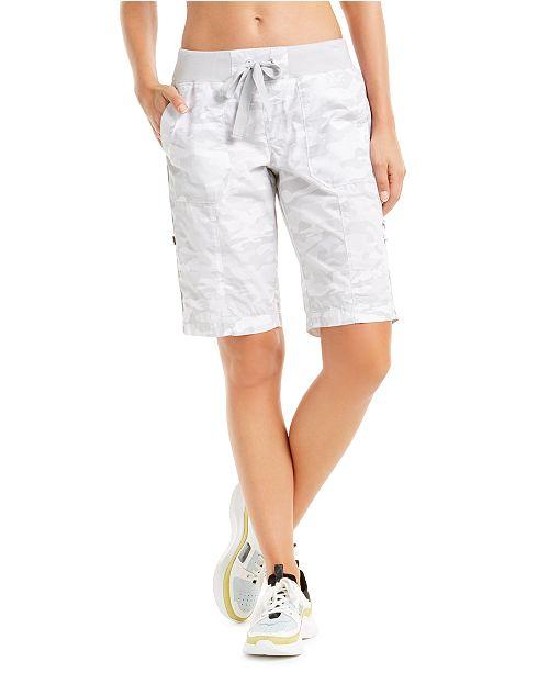Calvin Klein Camo Convertible Cargo Bermuda Shorts