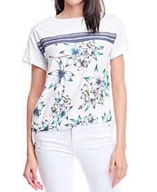 Printed Side-Tie Top