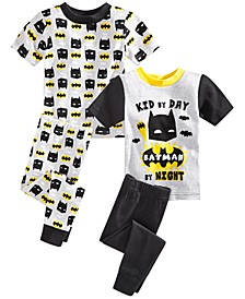 Toddler Boys 4-Pc. Batman Pajama Set