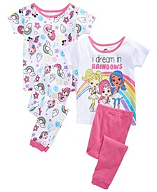 Toddler Girls 4-Pc. Rainbow Rangers Pajama Set