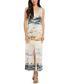 Tank Desert-Print Midi Dress