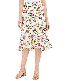 Lucky Brand Sadie Wrap Midi Skirt
