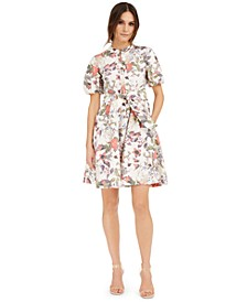 INC Cotton Floral-Print Mini Dress, Created for Macy's