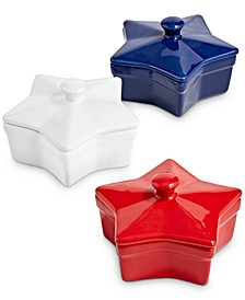 Americana Star Cocottes, Set of 3, Created for Macy's
