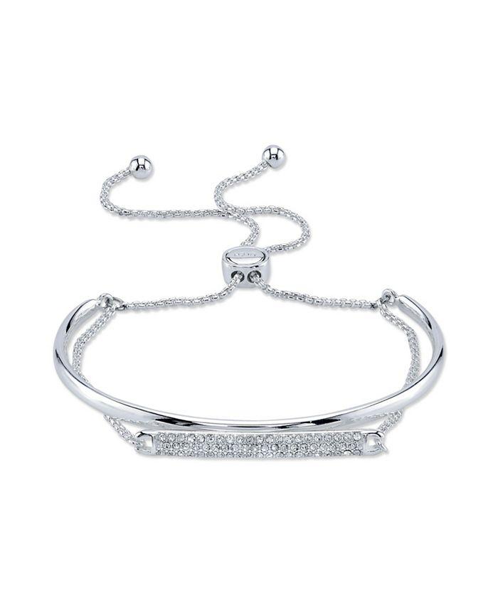 Unwritten - Crystal Fine Silver Plated Ajdustable Bolo Bracelet