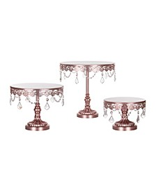 Sophia Crystal-Draped Cake Stand Set of 3
