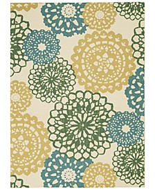 "Shady Brights SHA72 Ivory 5'3"" x 7'5"" Area Rug"