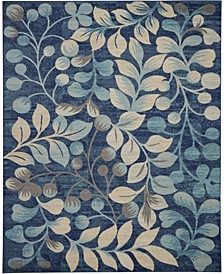 "Peace PEA03 Navy 8'10"" x 11'10"" Area Rug"