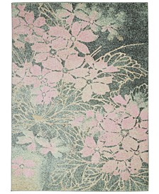 Peace PEA08 Gray, Pink 4' x 6' Area Rug