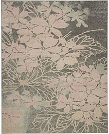 Peace PEA08 Gray, Pink 8' x 10' Area Rug
