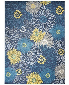 Zeal ZEA17 Blue 9' x 12' Area Rug